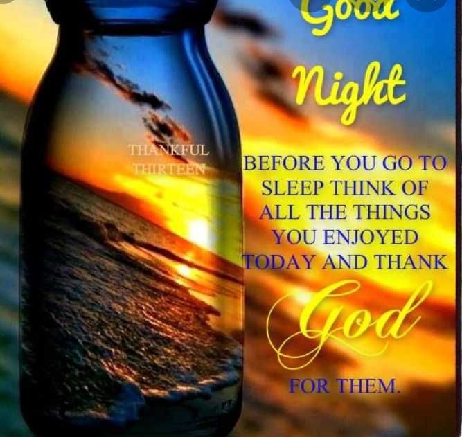 🌹🌹 good night 🌹🌹 - youu Night THANKFUL THIRTEEN BEFORE YOU GO TO SLEEP THINK OF ALL THE THINGS YOU ENJOYED TODAY AND THANK FOR THEM . - ShareChat