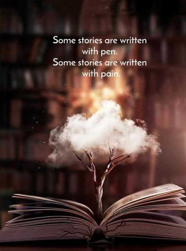 good night friend's - Some stories are written with pen . Some stories are written with pain - ShareChat