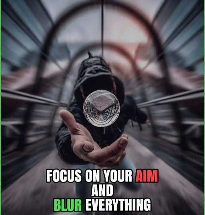 ♥gud nyt ♥ - FOCUS ON YOUR AIM AND BLUR EVERYTHING - ShareChat