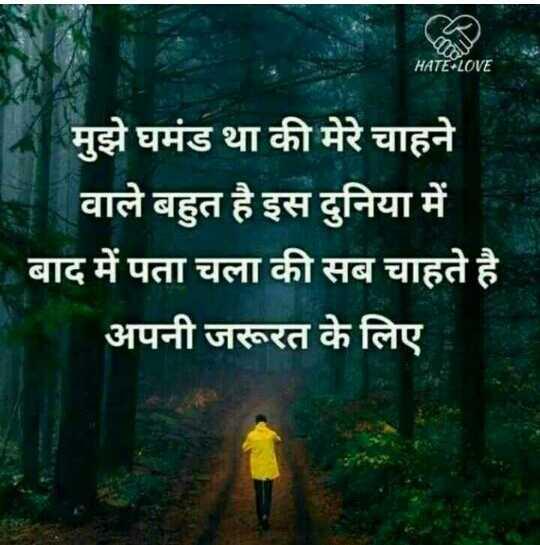 hamari adhuri kahani - HATE LOVE मुझे घमंड था की मेरे चाहने वाले बहुत है इस दुनिया में बाद में पता चला की सब चाहते है । अपनी जरूरत के लिए - ShareChat