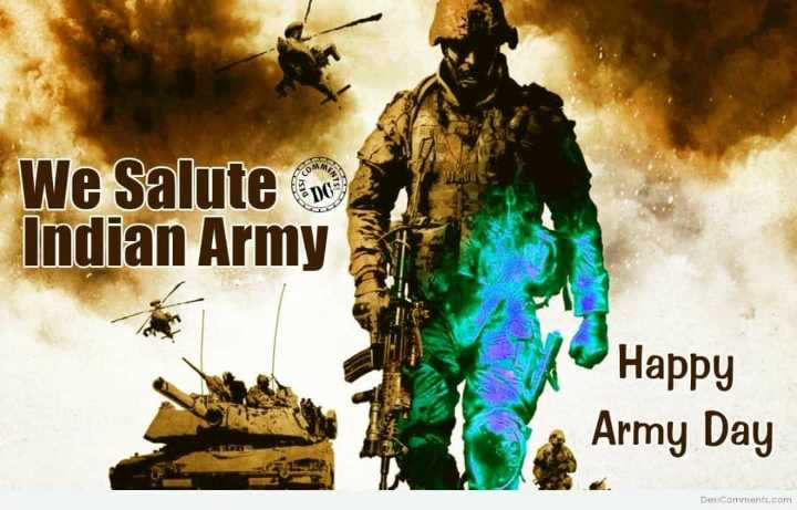 happy army day - We Salute o Indian Army Happy Army Day Des Comments . com - ShareChat