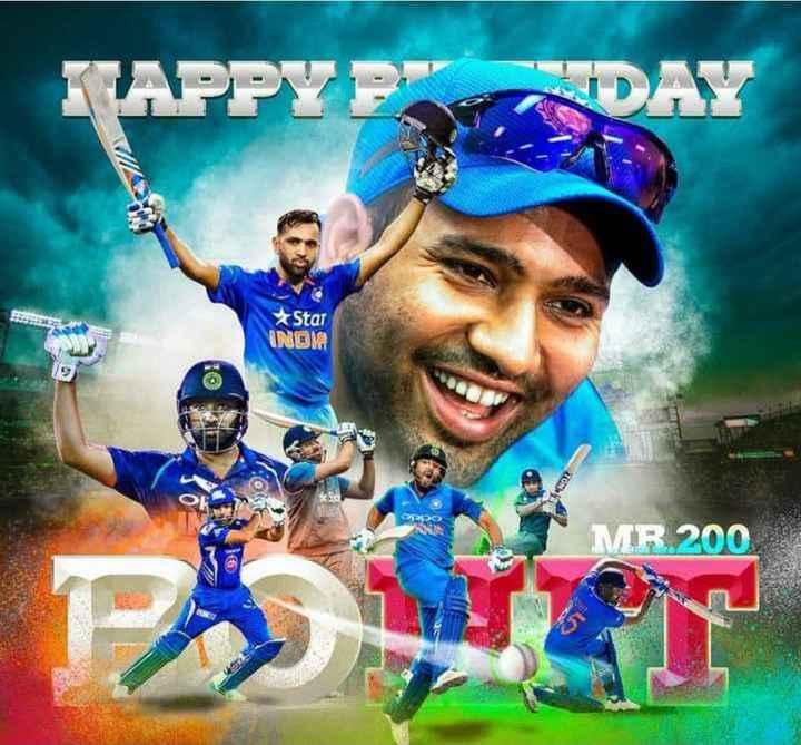 happy birthday rohit sharma - KAPPYERDAY Star INDIA MR200 - ShareChat