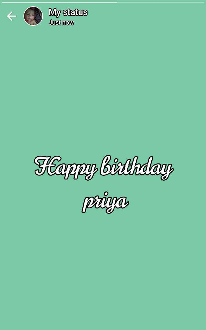 🎂happy brithday my jann 😘 - 6 ( 3 ) My status Just now Happy birthday priya - ShareChat