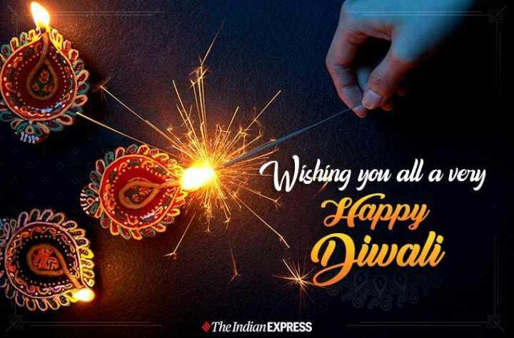 happy diwali - BA Wishing you all a very Happy Diwali UUDIO The Indian EXPRESS - ShareChat