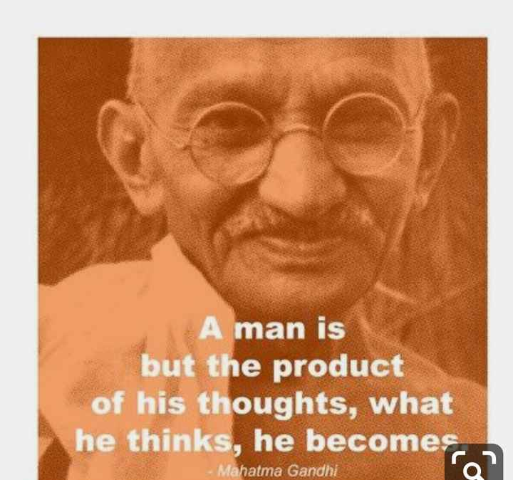 happy gandhi jayanti💐🇮🇳💐 - A man is but the product of his thoughts , what he thinks , he becomes Mahatma Gandhi - ShareChat