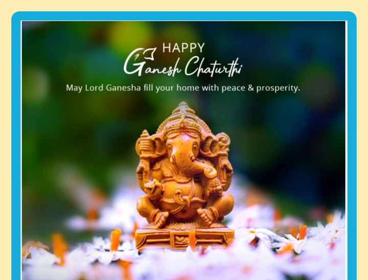 happy ganesh chturthi - GS HAPPY Ganesh Chaturthi May Lord Ganesha fill your home with peace & prosperity . - ShareChat