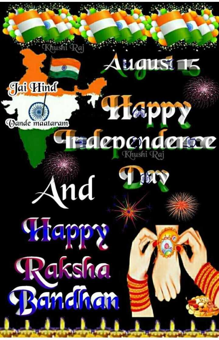 happy happy - Jai Hind August 15 Liappy Independence Wande maataram Khushi Raj And Day Ftopp Raksha Bandhan - ShareChat