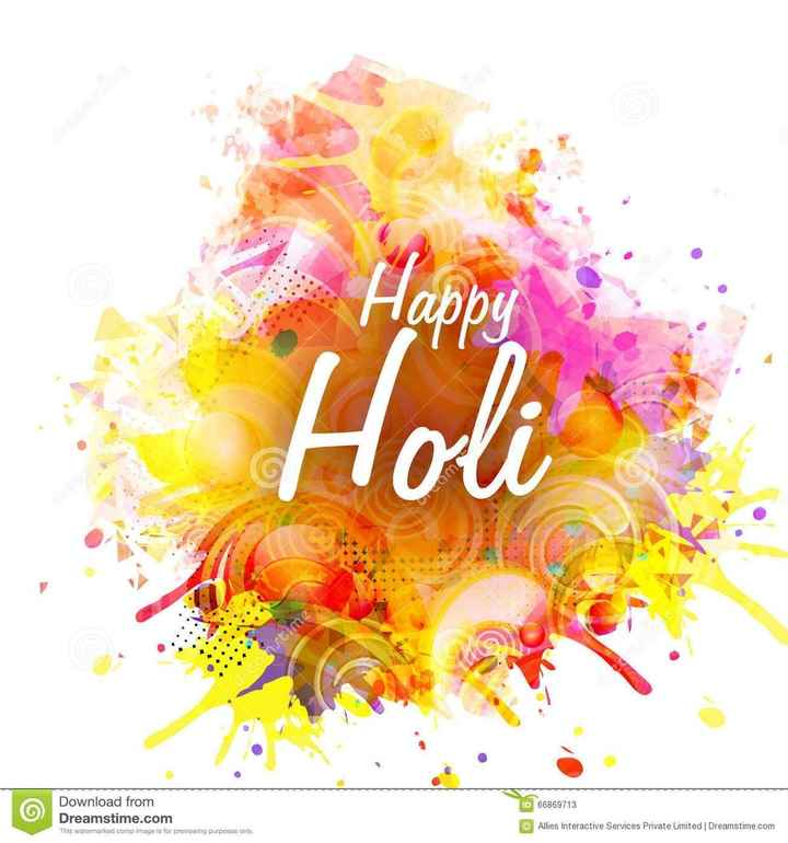 happy holi - creamer Holi an ID 66869713 Download from Dreamstime . com This watermarked comp image is for previewing purposes only . © Allies Interactive Services Private Limited Dreamstime . com - ShareChat