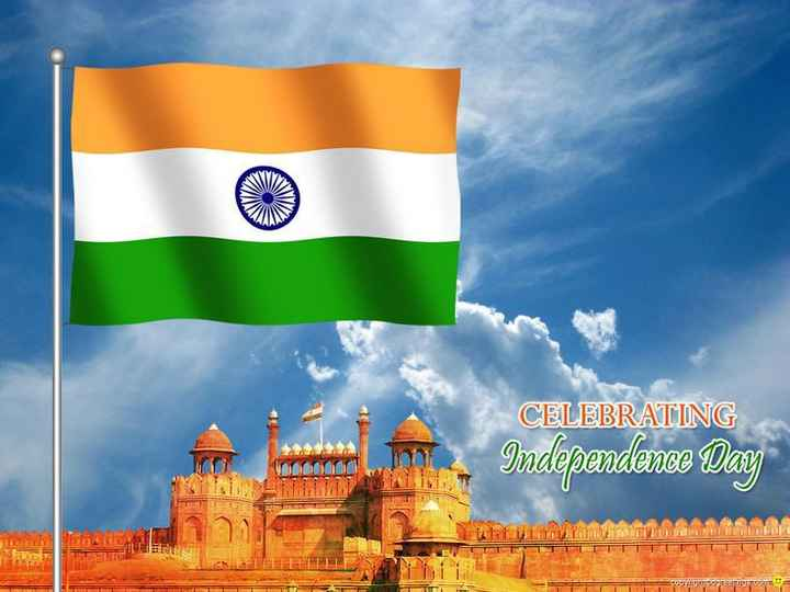 happy independent day - CELEBRATING Independence Day VORM TUR HINT LANTEET - ShareChat