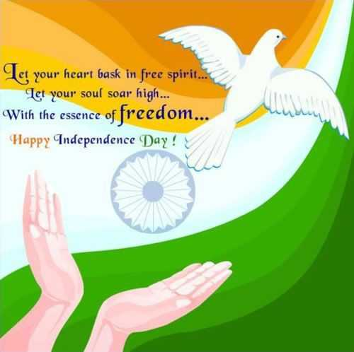 happy independent day - Let your heart bask in free spirit . . . Tet your soul soar high . With the essence of freedom . . . Happy Independence Day ! - ShareChat