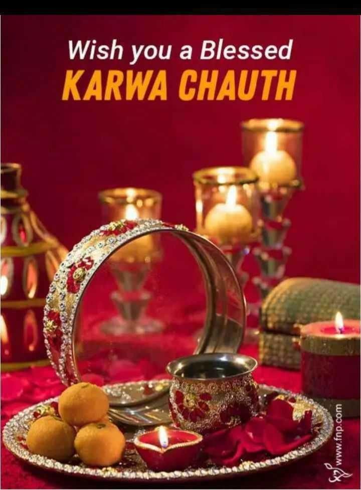 happy kadva chouth - Wish you a Blessed KARWA CHAUTH 9 www . fnp . com - ShareChat