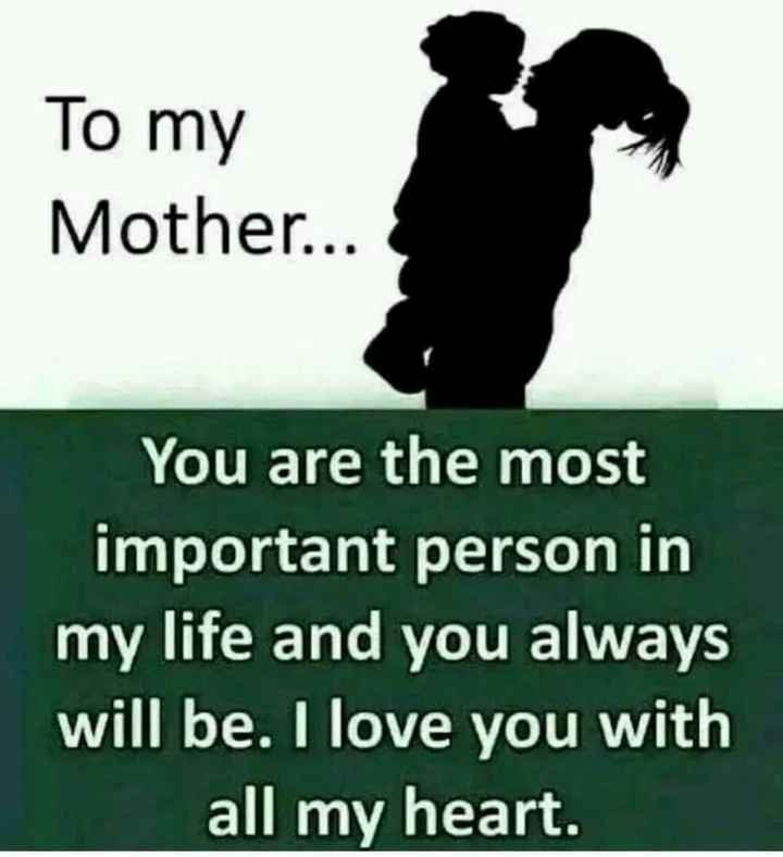 happy mother's day - To my Mother . . . You are the most important person in my life and you always will be . I love you with all my heart . - ShareChat