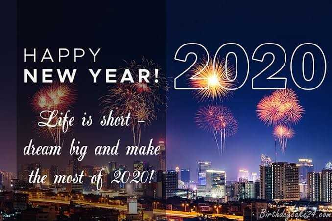 happy new year - UV HAPPY NEW YEAR ! NEW YEAR ! 2020 Life is short dream big and make the most of 2020 ! birthdaycare24 - ShareChat