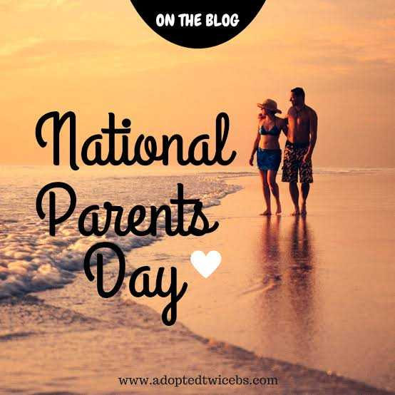 happy parents day..🍫🍫💐💐 - ON THE BLOG National Parents Day www . adoptedtwicebs . com - ShareChat