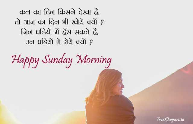 🌷🌸happy sunday friends🌸 🌷 - कल का दिन किसने देखा है , तो आज का दिन भी खोये क्यों ? जिन घडियों में हँस सकते है , उन घड़ियों में रोये क्यों ? Happy Sunday Morning True Shayari . in - ShareChat