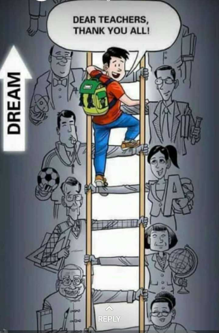 happy teachers day - DEAR TEACHERS , THANK YOU ALL ! F ZB 1 DREAM 1191 REPLY - ShareChat