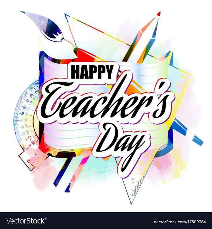 happy teachers day 😊 - 8282 2048 9 Vector Stock 189 1735 110 5058 69 79 89 03 4 Teachers HAPPY 7 , VectorStock . com / 17509364 - ShareChat