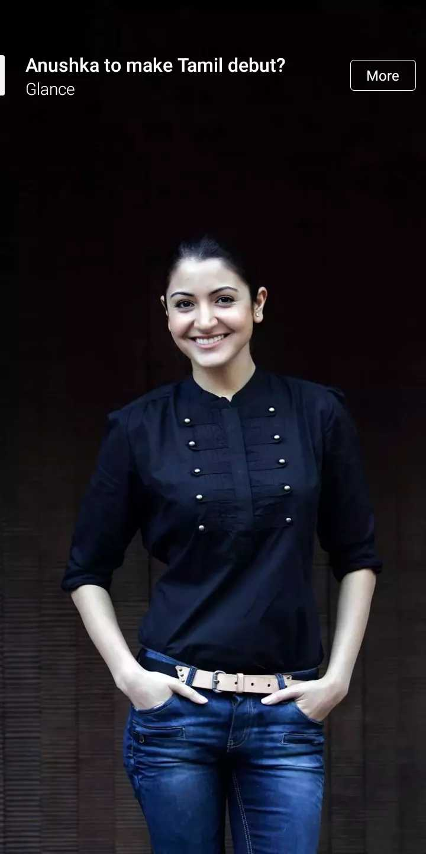 hero heroin - Anushka to make Tamil debut ? Glance More To - ShareChat