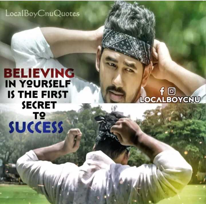 hip hop thamizhan - LocalBoyCnuQuotes BELIEVING IN YOURSELF IS THE FIRST SECRET TO LOCALBOYCNU SUCCESS - ShareChat