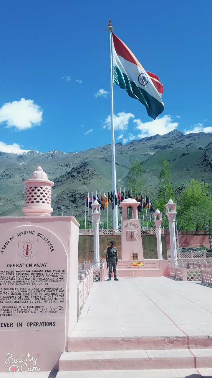 🇮🇳i love my india🇮🇳 - AE SACRIF SUPREME A SAGA OF RIFICE OPERATION VIJAY MAY 99 . 56 MOUNTAIN BRIGADE WAS INDUCTED TO EVICT PAKISTANI INTRUDERS OCCUPYING CALLY IMPORTANT HEIGHTS OF TOLOLING POINT 4875 AND MASHKOH VALLEY , CONSIDERING MITY OF INTRUSIONS . BALANCE OF B MOUNTAIN WAS ALSO INDUCTED BY JUN 99 . T FOLLOWED WAS A SAGA OF UNPARALLELED JALOUR AND SACRIFICE A FIERCE BATTLE WAS Y THE INDIAN SOLDIERS TO SMOTHER THE S DESIGNS OF THE ENEMY IN ONE OF THE SCHEROUS TERRAIN , ON THE EARTH . THE S DISGRACEFULLY EVICTED BY 26 JUL 99 . MEMORIAL IS A TESTIMONY OF THE SACRIFICE MADE BY THE INDIAN WHILE RESTORING THE IZZAT OF ERLAND EVER IN OPERATIONS Beauty o Camo - ShareChat