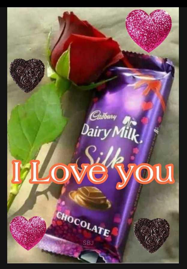 i love you 😘 - Cadbury Dairy Milk . Love you CHOCOLATE SBJ - ShareChat