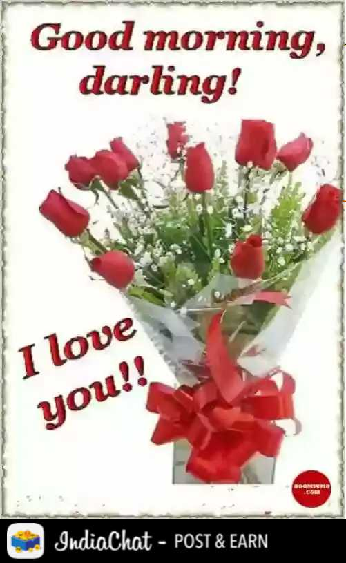 😍 i love you 😍😍😍 - Good morning , darling ! I love you ! ! BDOMINO CGS IndiaChat - POST & EARN - ShareChat
