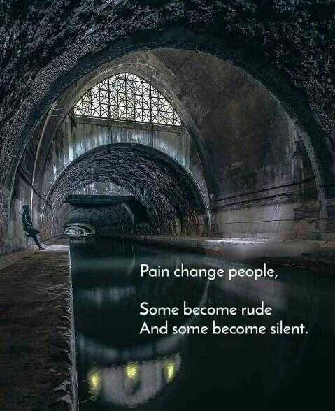it's my feeling - Pain change people , Some become rude And some become silent . - ShareChat