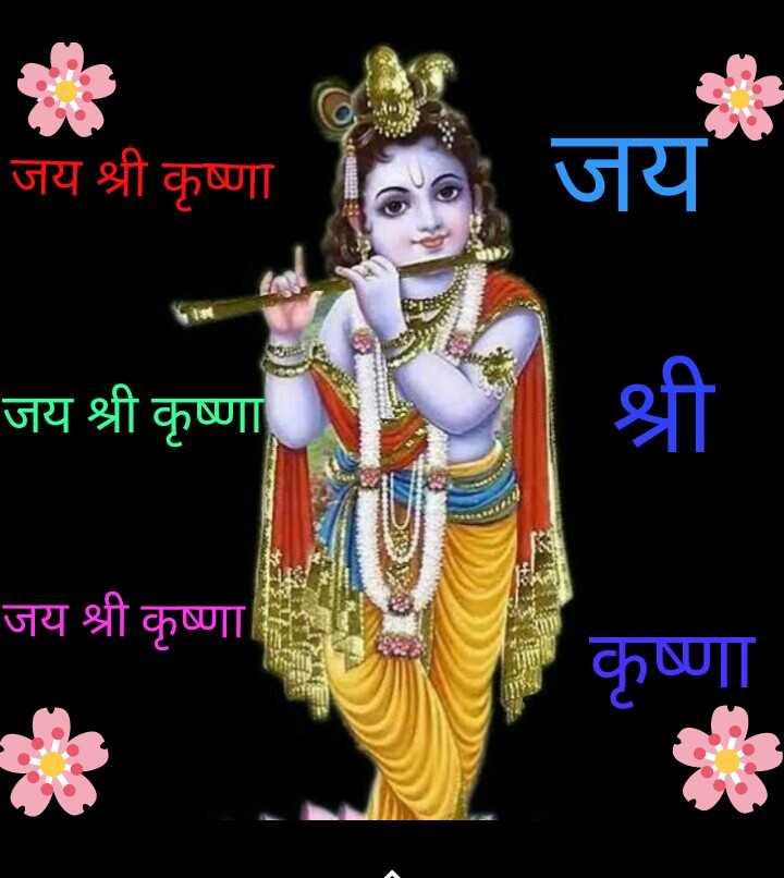 jai sri krishna 🙏🙏  happy krishn janmashtami ## 👍 - जय श्री कृष्णा Had जय जय श्री कृष्णा जय श्री कृष्णा 1 कृष्णा - ShareChat