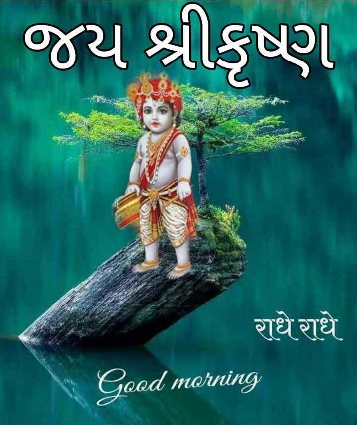 jay sri krishana - જય શ્રીકૃષ્ણ राधे राधे Good morning - ShareChat