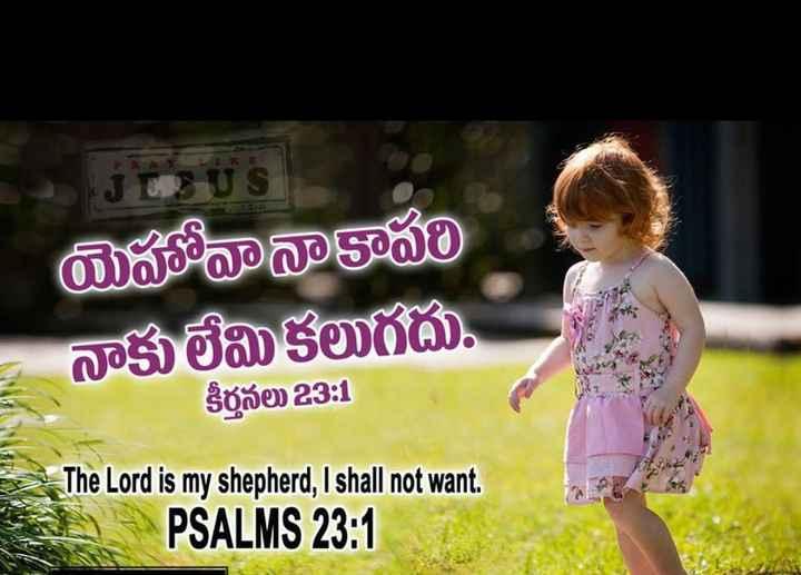 jesus - యెహోవానా కాపరి నాకు లేమి కలుగదు . కీర్తనలు 23 : 1 - The Lord is my shepherd , I shall not want . S PSALMS 23 : 1 - ShareChat