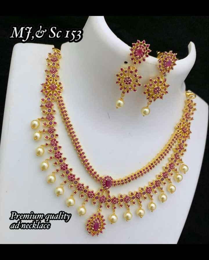 jewellery - MJ , C Sc 153 మనం కుంభంతం CS Premium quality ad necklace - ShareChat