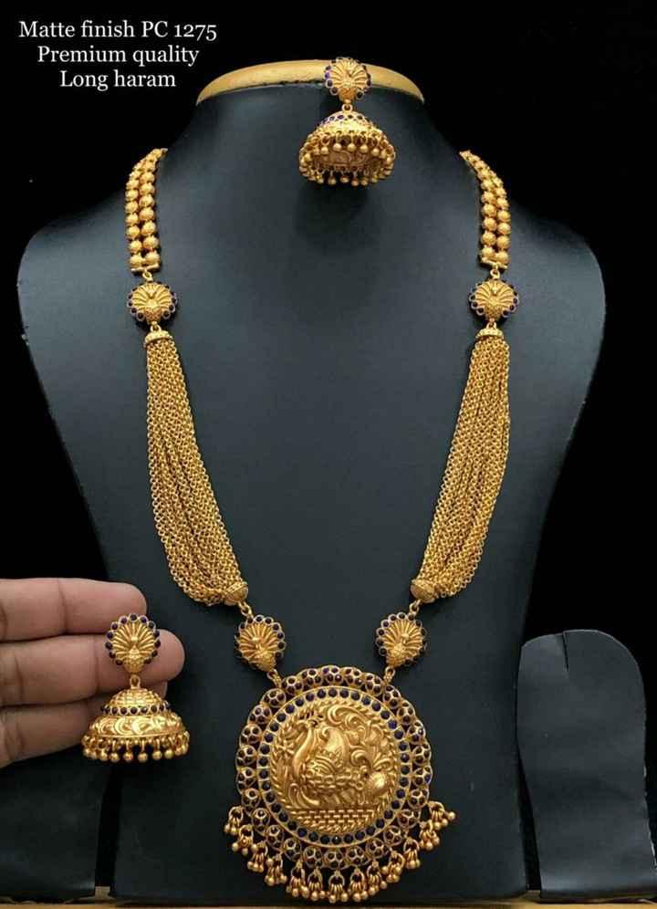 jewellery - Matte finish PC 1275 Premium quality Long haram - ShareChat