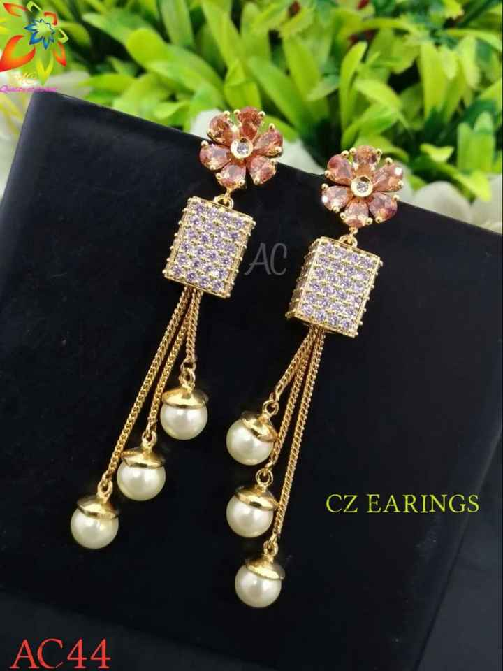 jewellery - Quality and CZ EARINGS AC44 - ShareChat