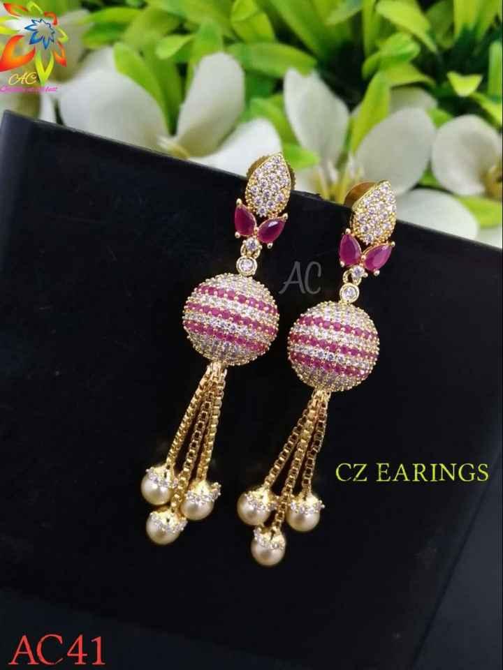 jewellery - AC ajat la Case CZ EARINGS AC41 - ShareChat