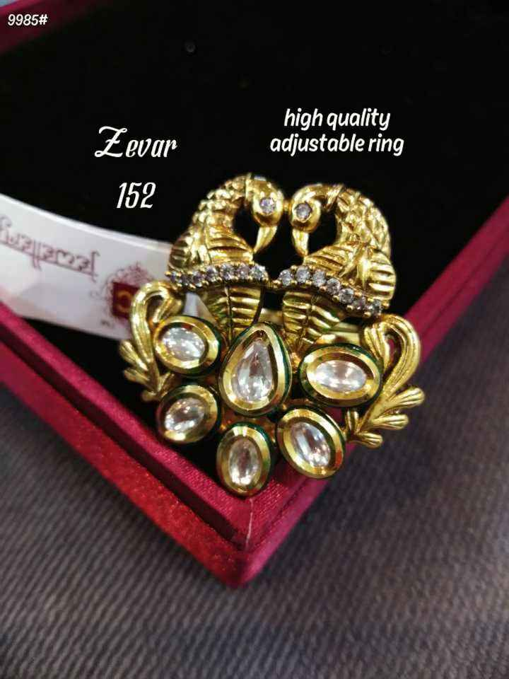jewellery - 9985 # high quality adjustable ring Zevar 152 23 - ShareChat
