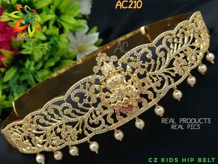 jewellery - AC210 C ac tin 13 REAL PRODUCTS REAL PICS CZ KIDS HIP BELT - ShareChat