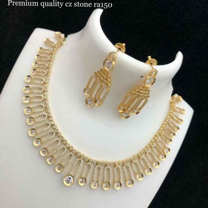 jewellery - Premium quality cz stone ra150 මම© GCC @ මම මෙමළ ' මම ම ම N 11 : sak මමමතල මම ඉගනුම මම LE | = , | - ShareChat