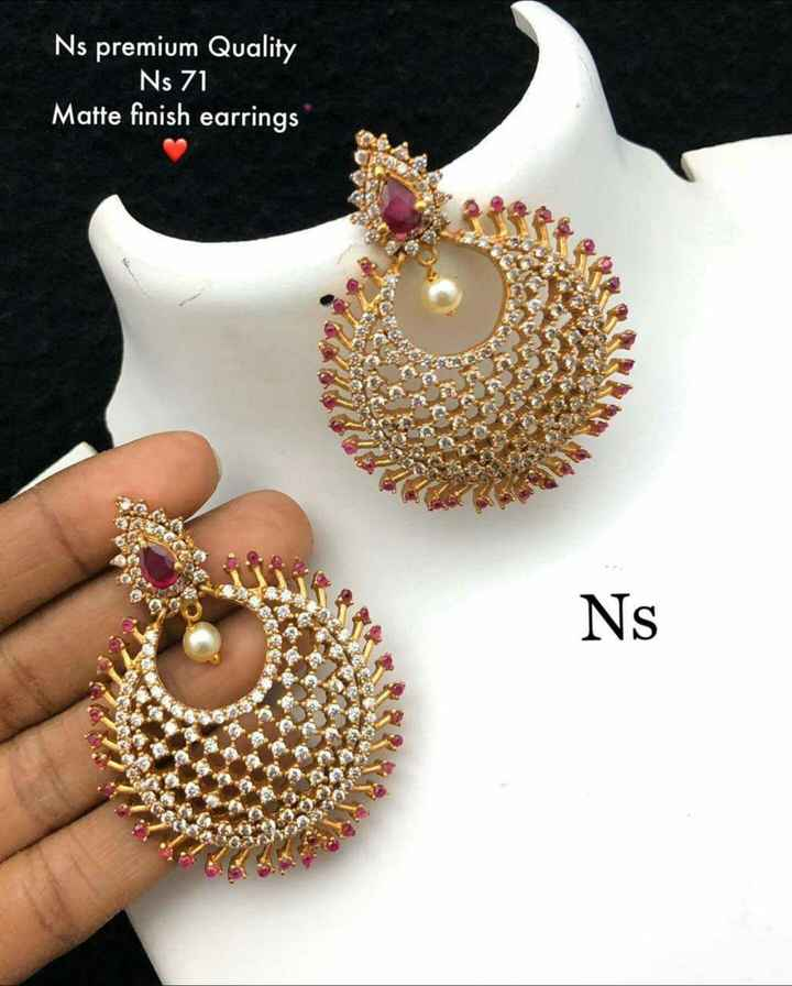 jewellry - Ns premium Quality Ns 71 Matte finish earrings Ns - ShareChat