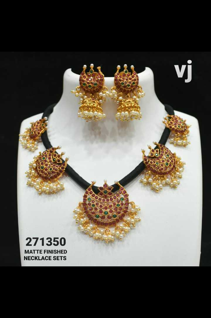 jewelry - 271350 MATTE FINISHED NECKLACE SETS - ShareChat