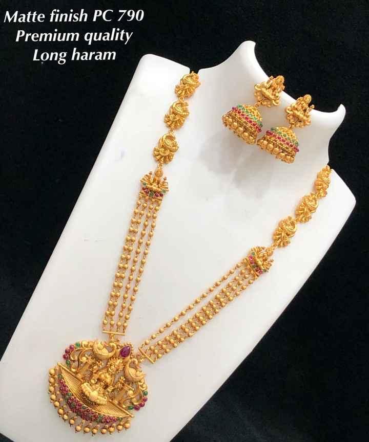 jewelry - Matte finish PC 790 Premium quality Long haram - ShareChat