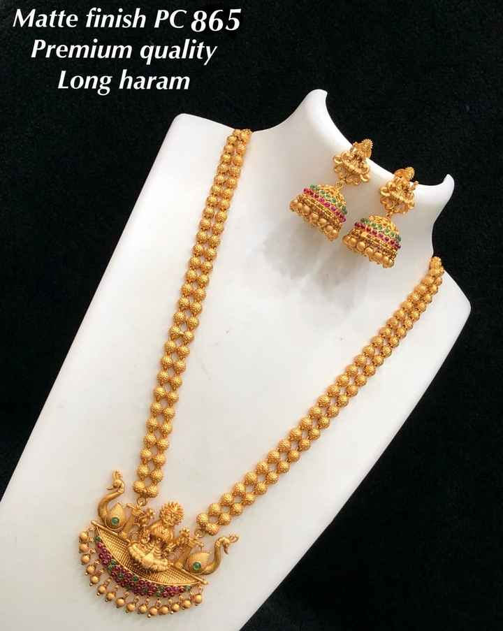 jewelry - Matte finish PC 865 Premium quality | Long haram - ShareChat