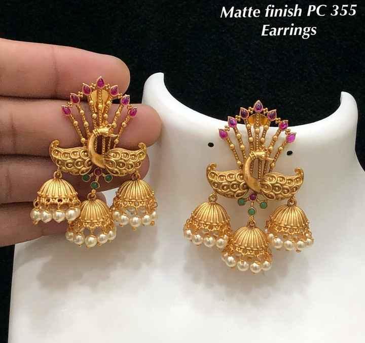 jewelry - Matte finish PC 355 Earrings OTROS - ShareChat