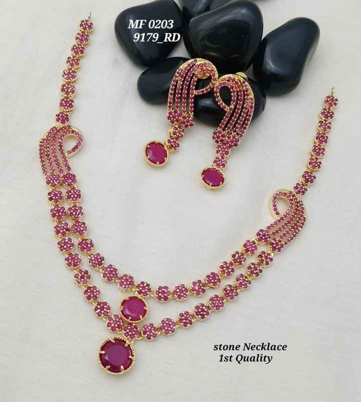 juwel - MF 0203 9179 _ RD O : COR stone Necklace 1st Quality - ShareChat