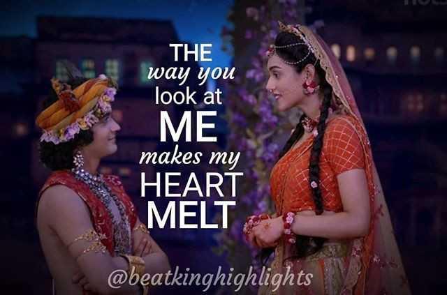 krishna  krishna krishna krishna krishna krishna krishna - THE way you look at ME makes my HEART MELT @ beatkinghighlights - ShareChat