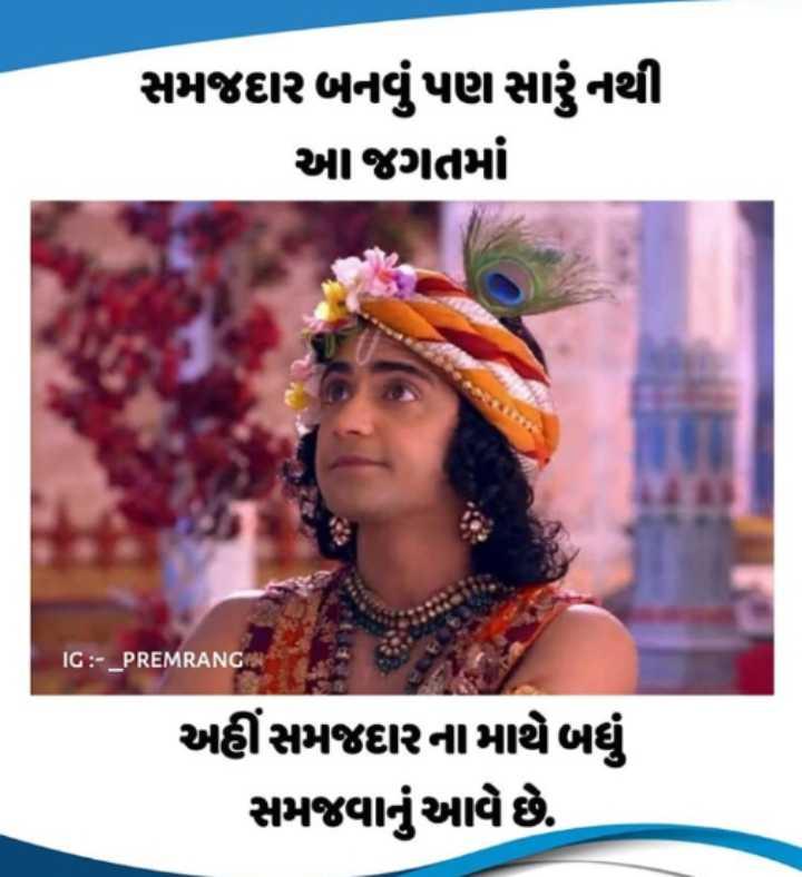 krishna lover - સમજદાર બનવું પણ સારું નથી આ જગતમાં IG : - _ PREMRANGAN અહીંસમજદારનામાથે બધું સમજવાનું આવે છે . - ShareChat