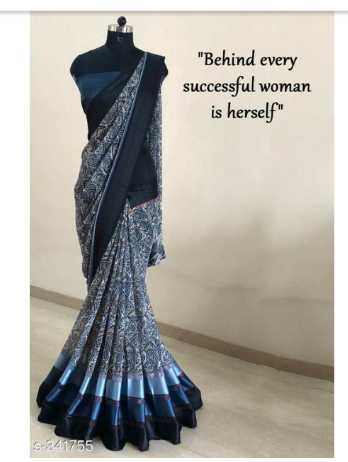 latest sarees - Behind every successful woman is herself S - 341755 - ShareChat