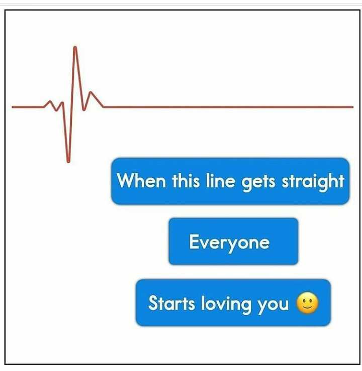 #life..😎 - When this line gets straight Everyone Starts loving you - ShareChat