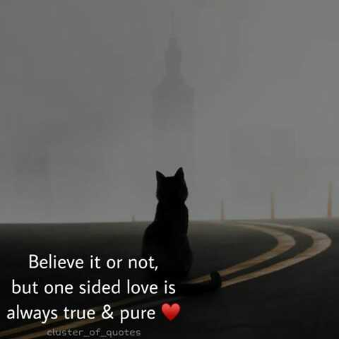 life facts - Believe it or not , but one sided love is always true & pure cluster _ of _ quotes - ShareChat
