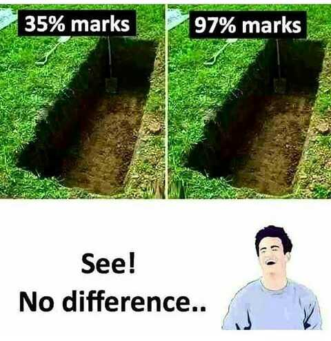 life facts - 35 % marks 97 % marks See ! No difference . . - ShareChat
