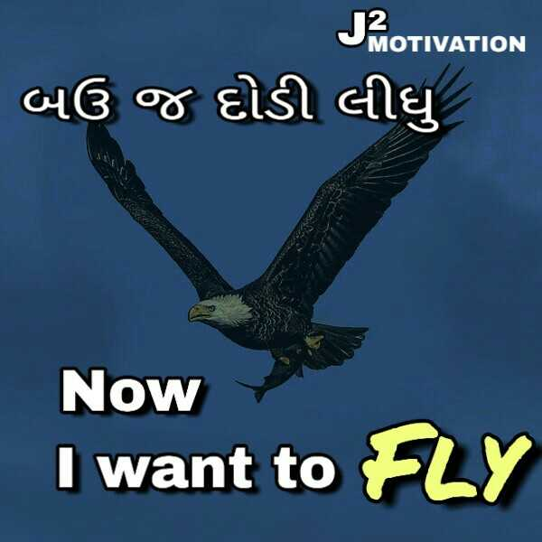 life motivation - MOTIVATION બઉ જ દોડી લીધુ Now I want to FLY - ShareChat